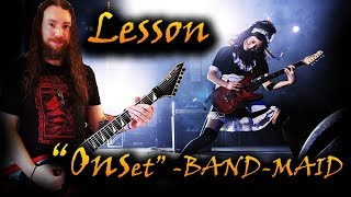 Guitar Lesson - Onset Instrumental / BAND-MAID
