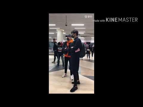 HU YITIAN Video in Airport 😘