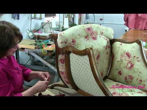 How To Upholster A Barrel Back Chair Part 4