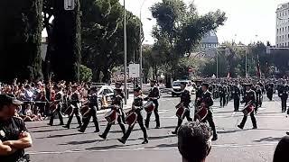 Guardia Civil en el desfile del Dia de la Hispanidad. Madrid 12 de Octubre 2017