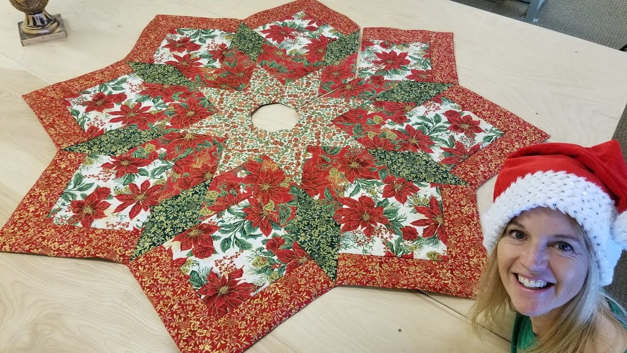 Sew A Christmas Tree Skirt Youtube