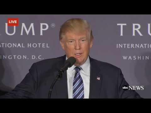 Donald Trump Congratulates Newt Gingrich, Washington, DC. 10/26/16