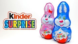 Kinder Surprise Bunny Choco Rabbit with Surprise Toy opening