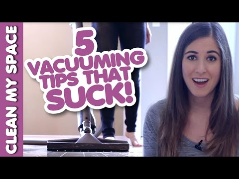 5 Vacuuming Tips that SUCK! (AKA Learn how to Vacuum!) Easy Vacuuming Ideas (Clean My Space)