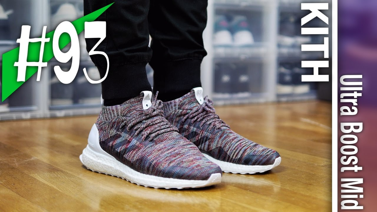 0cb49eb8a8037 ... cheapest 93 kith x adidas consortium ultra boost mid aspen pack review  on feet sneakerkult bd79a