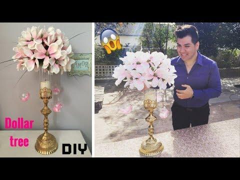 Dollar tree DIY/ Wedding floral centerpiece/ super glam!!