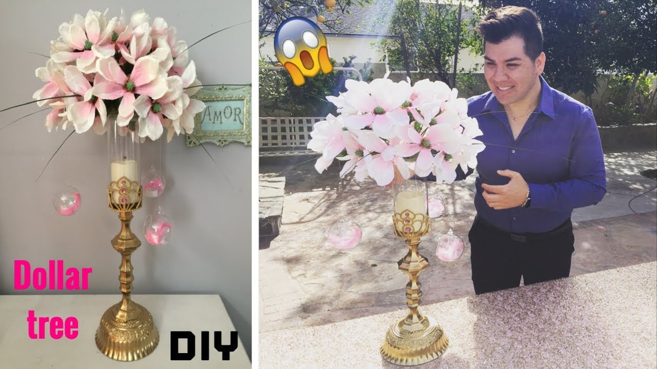 Dollar tree DIY/ Wedding floral centerpiece/ super glam!! - YouTube