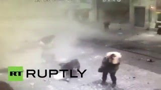 Turkey: CCTV footage captures moment of suicide bomb blast in Istanbul