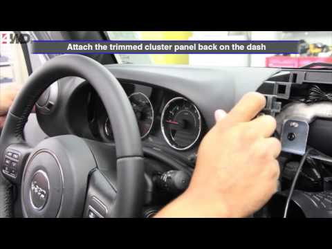 Alpine X109-WRA In-Dash Restyle System for Jeep Installation