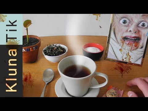 TEA with my GRANDMA!!! Kluna Tik Dinner #70   ASMR eating sounds no talk