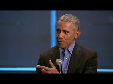 Obama Foundation Summit   Desk with President Barack Obama