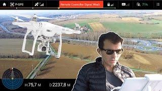 Je teste la distance MAXI du DJI PHANTOM 3 Advanced ( long range record & Signal Weak )Test FR