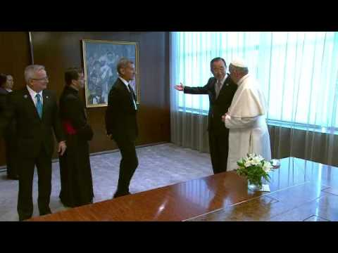 Ban Ki-moon (UN Secretary-General) meets His Holiness Pope Francis