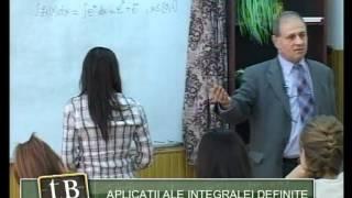 TeleBAC Romana - Matematica. Aplicatii ale integralei definite by Valeriu Drula