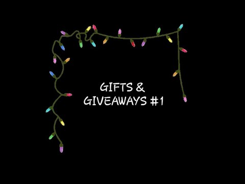 #VLOGMAS2018- DAY 3 - GIFTS & GIVEAWAY #1