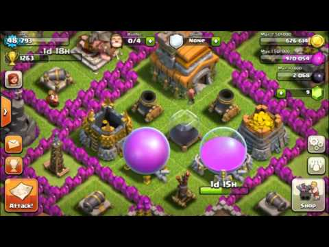 Lets Play Clash Of Clans: #2 - Hidden Tesla & 2 Cannon Upgrades
