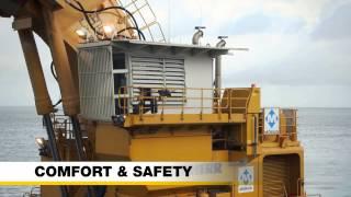 Liebherr – Ponton excavator P 995 in dredging application