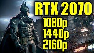 Batman Arkham Knight RTX 2070 OC | 1080p - 1440p & (4K) 2160p | FRAME-RATE TEST