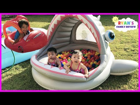 Thumbnail: Babies and Kids Family Fun Shark Pool Time with Color Balls! Ryan's Family Review
