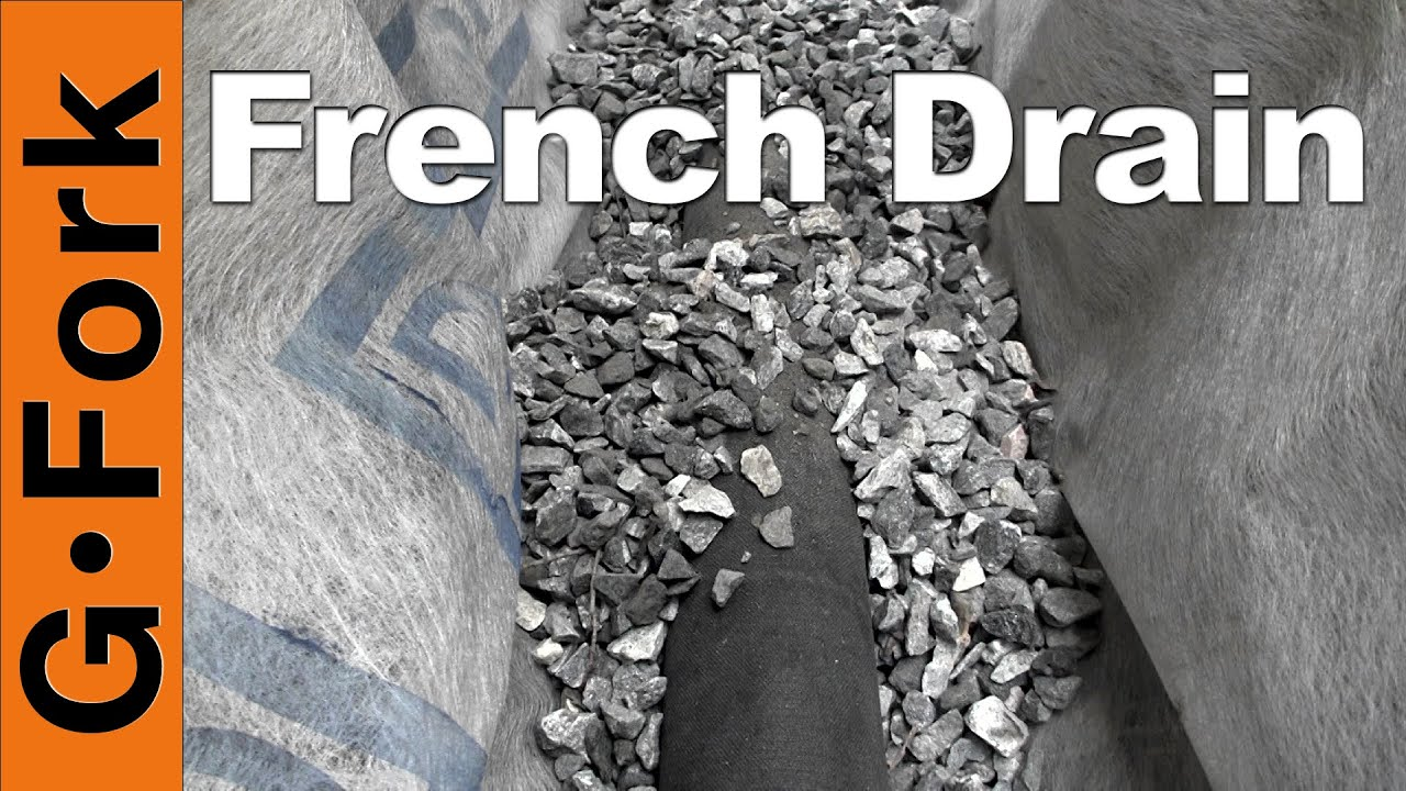How To Put In A French Drain Gardenfork Youtube