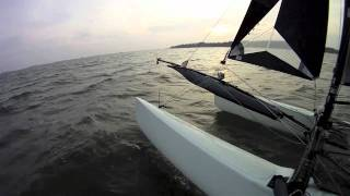 Onboard experience - Formula 18 catamaran