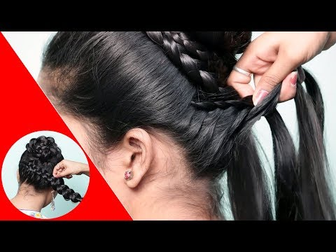 Simple hairstyle for Wedding/party || Hairstyles for Girls || Hairstyles for Girls || cute hairstyle