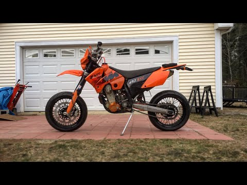 KTM 450 EXC SUPERMOTO | BUILD COMPLETE! & FIRST RIDE