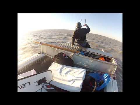 Foilsurfing pumping and Kitesailing Sept 2018 Lake Neusiedl