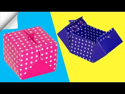 5 DIY paper crafts easy box | How to make a paper box
