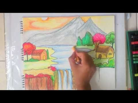 Thumbnail: beautiful scenery drawing for kids