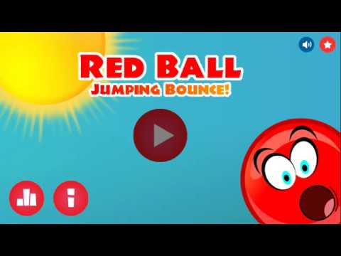 Red Ball Jumping Bounce Android & iOS Game ( Game play )