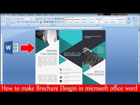 How To Make Brochure Design In Microsoft Office Word (ms Word) | Make Awesome Brochure Design |