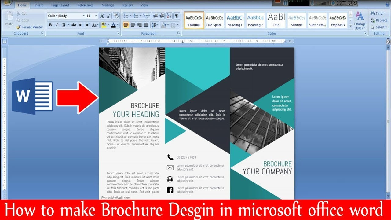 how to make brochure design in microsoft office word  ms