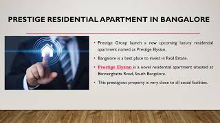 Prestige Elysian | New Premium Apartment | Prelaunch Offers | South Bangalore