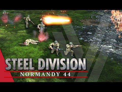 6th Stretched Thin! Steel Division: Normandy 44 Gameplay (Pegasus Bridge, 4v4)