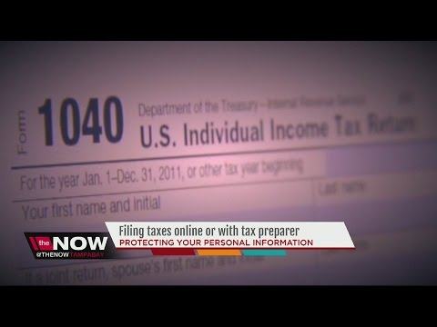 Filing taxes online vs with a tax preparer