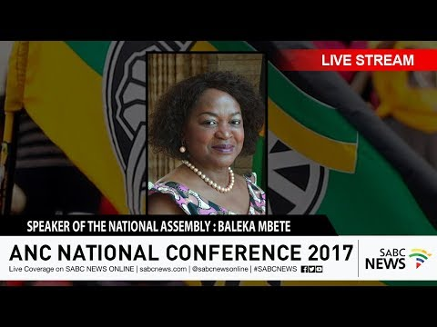 Baleka Mbete on the ANC Elective Conference, 13 December 2017