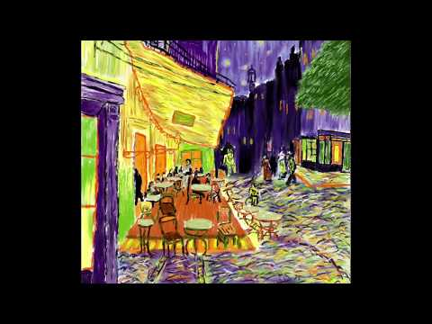 Procreate Ipad Mini 2 Terraza De Café Por La Noche Van Gogh