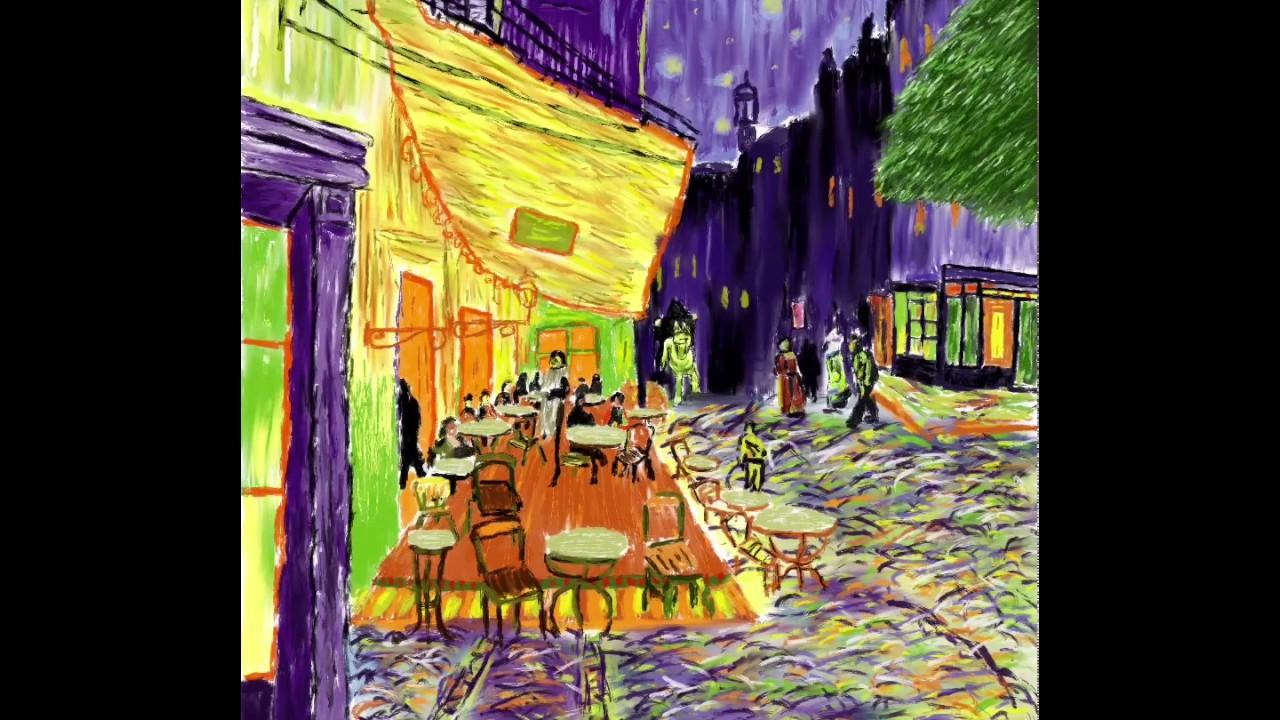 Procreate Ipad Mini 2 Terraza De Café Por La Noche Van Gogh Por Pabloalba23