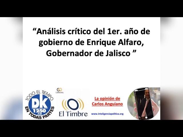 Enrique Alfaro.  Informe de gobierno.