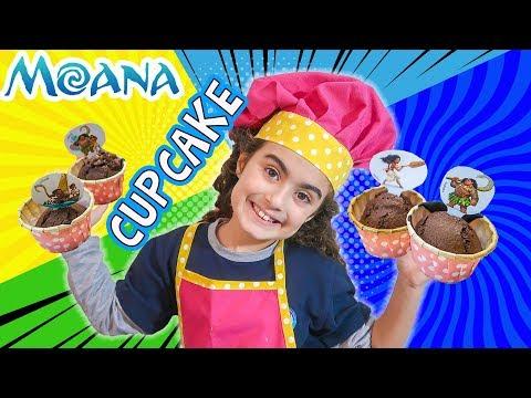 Mira tek başına Moana Kek Yaptı | Cupcake Tarifi | UmiKids