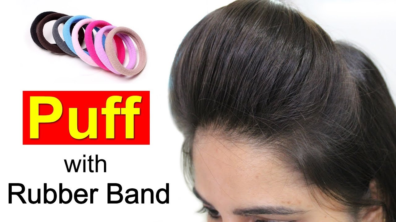 front puff for thin hair | quick & easy hairstyles with puff