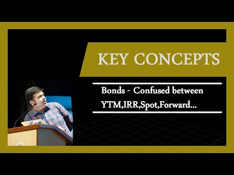 Bonds | Confused between the rates: Spot, Forward, Coupon, Current Yield, IRR, YTM, BEY