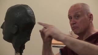 Уроки скульптуры и рисунка: лепка головы, часть 3, построение, набор массы
