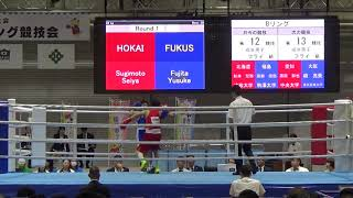 H30 国体 成年 F級 杉本聖弥 対 藤田優佑 ボクシング