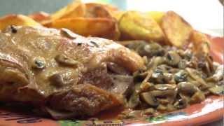 Баранина с грибами  - Рецепт Бабушки Эммы