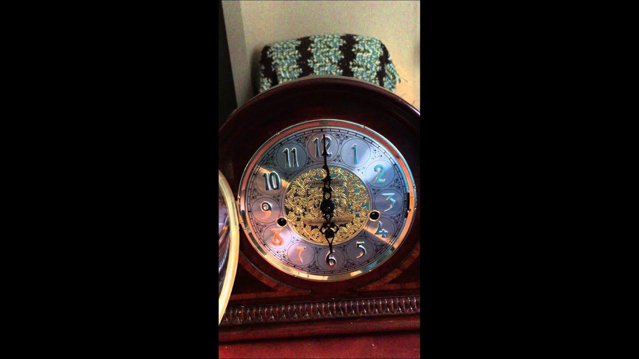 Setting time on howard miller mantel clock
