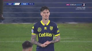 22 Years Old Dennis Man Debut vs Napoli - (31.01.20) HD   Serie A/Parma Debut