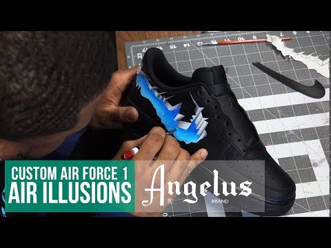 Custom Nike Air Force 1 | Air Illusion | Angelus Paint YouTube
