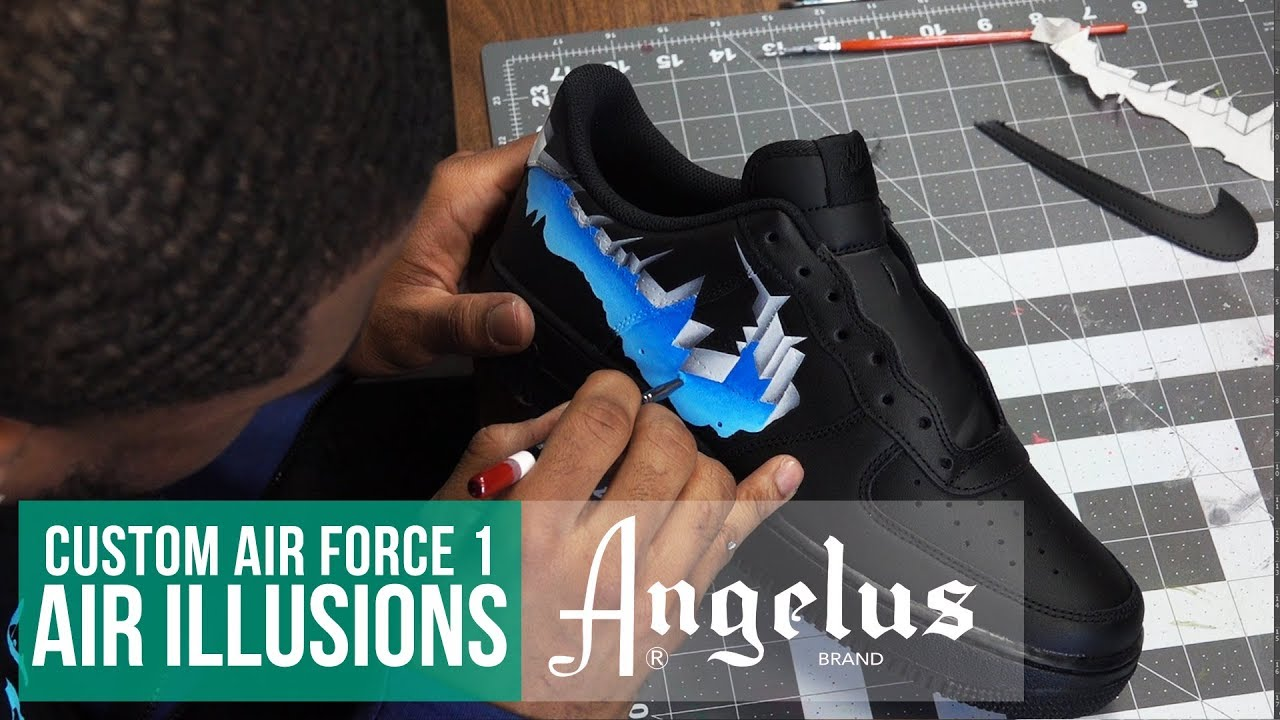 Custom Nike Air Force 1 Air Illusion Angelus Paint Youtube